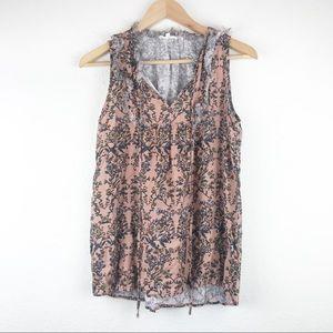 Pleione Nordstrom Floral Print Blouse Size S